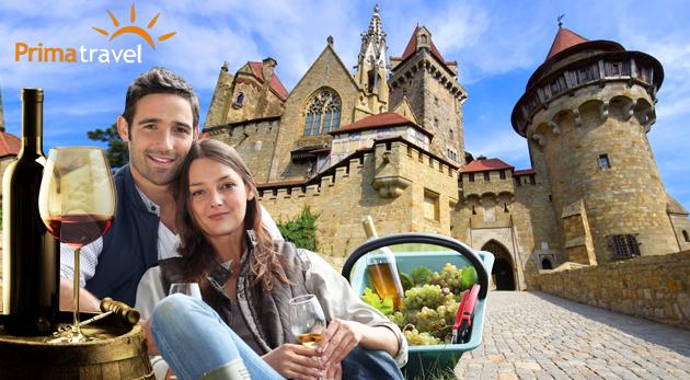 Fotka zľavy: Skvelý deň plný zážitkov v Dolnom Rakúsku - návšteva romantického zámku Kreuzenstein a vinárskej dedinky Poysdorf len za 22,90 € s možnosťou jazdy po viniciach na traktore či ochutnávky vín!