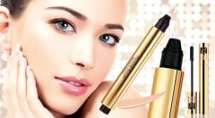 Zľava 53%: Zvýraznite svoju krásu vďaka kvalitnej kozmetike Yves Saint Laurent len za 13,99 € - rozjasňujúci korektor pod oči v dvoch odtieňoch a predlžujúca maskara s dlhotrvajúcim efektom.