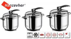 Zľava 49%: Pripravte si jedlo v plnej chuti a ušetrite energiu a čas - prvotriedny tlakový hrniec z nehrdzavejúcej ocele od výrobcu Hascevher už od 19,99 €. Na výber v 7-mich objemoch.