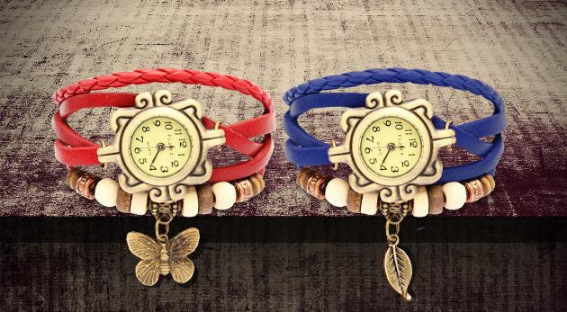 Zľava  Dámske hodinky v štýle retro