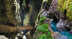 Zľava 30%: Spoznajte úchvatné prírodné výtvory na vzrušujúcej túre tiesňavou Salzachöfen a jednou z najdlhších, najužších a najhlbších tiesňav v Alpách Lichtensteinklamm za 55,90€. V cene doprava i sprievodca.