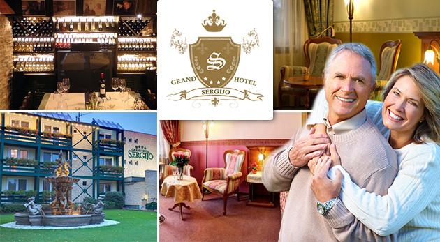 Fotka zľavy: Skvelý oddych na 3 alebo 4 dni pre 2 osoby v luxusnom Grand Boutique Hoteli Sergijo**** už od 125 €. Doprajte aj svojim rodičom pobyt v obľúbených piešťanských kúpeľoch s plnou penziou a wellness!
