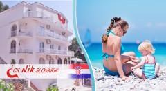 Zľava 35%: Letná 8-dňová dovolenka v TOP sezóne na Makarskej riviére len 50 m od pláže už od 275€ ! V cene polpenzia, ubytovanie v izbe s chladničkou alebo štúdiu s kuchynkou a dieťa do 6 rokov zadarmo.