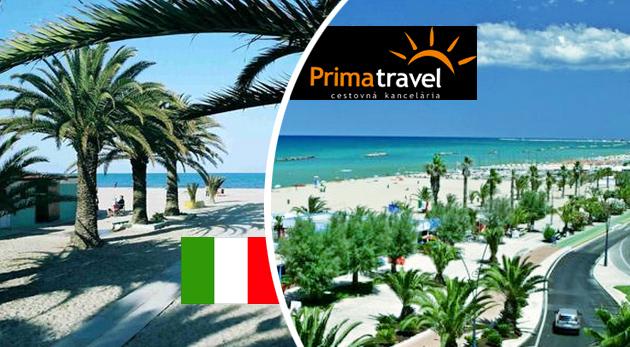 Fotka zľavy: Relax a leňošenie pri mori na krásnej Palmovej riviére v Taliansku v rámci 4-dňového zájazdu len za 129 € s ubytovaním v hoteli s raňajkami. Užite si slnečný víkend na jadranskom pobreží!