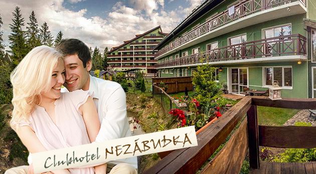 Fotka zľavy: Privítajte teplé dni v Tatranskej Štrbe v Clubhoteli*** Nezábudka už od 99 €! Poteší vás plná penzia, fľaša sektu, wellness, procedúry a množstvo ďalších bonusov. Platnosť až do konca augusta!