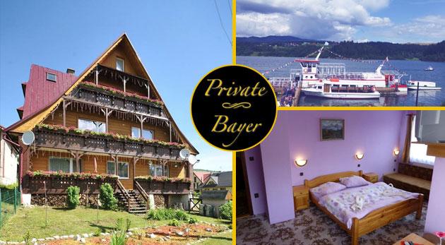 Fotka zľavy: Dovolenka pod vrcholmi Belianskych Tatier v malebnej obci Ždiar - privíta vás rodinný Penzión Bayer už od 39 € na 3, 4 alebo 6 dní s výbornou domácou polpenziou, infrasaunou a balíčkom skvelých zliav!