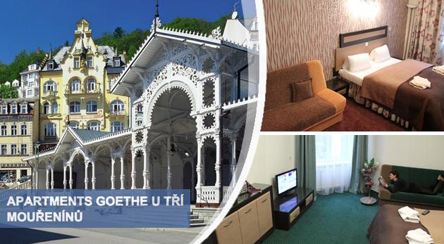 Fotka zľavy: Karlovy Vary skrátka musíte zažiť - najlepšie v Apartmánoch Goethe U Tří mouřenínů už od 96 € pre dve osoby, kde pobýval aj sám veľký maestro. Na výber aj variant s raňajkami či wellness procedúrami.