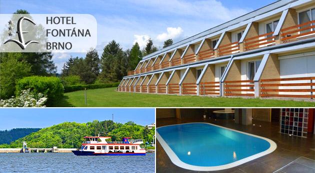 Fotka zľavy: Vyrazte si do Brna a strávte pár dní v Hoteli Fontána neďaleko priehrady už od 94€ pre dvoch vrátane polpenzie i vstupov do wellness a bazéna. Pamiatky, kultúra, zábava i oddych v jednom meste!