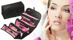 Zľava 67%: Aj vaše šminky a toaletné potreby potrebujú svoje miesto v batožine - je ním organizér na kozmetiku len za 4,90€. Pre cestovanie bez nehody s rozsypanou či rozliatou kozmetikou.