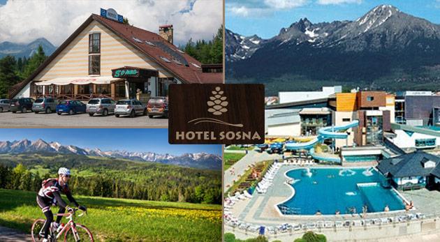 Fotka zľavy: Vychutnajte si krásu a majestátnosť Vysokých Tatier počas teplých mesiacov - 3-dňový relax v Hoteli Sosna iba za 39,99€ vrátane polpenzie, biliardu a ďalších skvelých bonusov. Deti do 6 rokov zadarmo!
