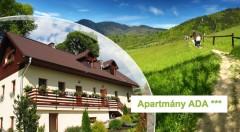 Zľava 40%: Ničnerobenie i aktívny relax na Liptove pre 2 alebo 4 osoby v apartmánoch ADA alebo v samostatných chatkách Aquatherm už od 59 €. Deti do 6 rokov ubytovanie zadarmo!