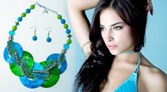 Zľava 56%: Pestrá sada náhrdelníka s náušnicami len za 8,69 € pre doplnenie vášho letného outfitu. Na výber viacero farebných modelov.