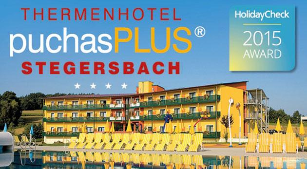 Fotka zľavy: Luxusný Thermenhotel PuchasPLUS**** v južnom Rakúsku na 3 či 4 dni už od 139 € s voľným vstupom do termálnych kúpeľov, raňajkami, možnosťou hry golfu a ďalšími bonusmi. Len 2 hodiny od Bratislavy!