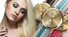 Zľava 47%: Ozdobte svoju ruku ligotavými dámskymi hodinkami Geneva s kvalitným strojčekom Quartz len za 8,90 € - na výber zo štyroch trendy farieb.