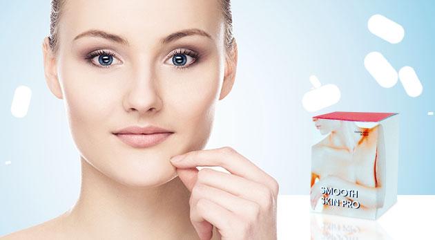 Fotka zľavy: Zbavte sa akné a celulitídy vďaka výživovému doplnku Smooth Skin PRO už od 9,90 € v balení 50 alebo 150 kapsúl pre krásnu a vyhladenú pokožku.