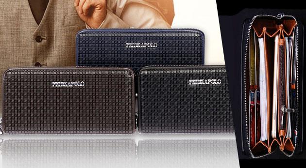 Fotka zľavy: Pánska POLO peňaženka na kreditky, mince aj mobil z kvalitnej kože len za 17,90 € urobí z každého muža elegána s vkusom. Na výber v troch trendy farbách.
