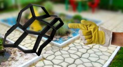 Zľava 50%: Urobte si atypický chodník do záhrady vďaka šikovnej forme na betónový chodník len za 9,90 €. Jednoduché položenie a štýlové prevedenie!