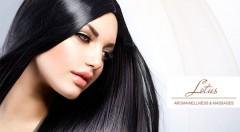 Zľava 59%: Nová vizáž a krásny účes vďaka šikovnému umytiu, strihu, farbeniu, módnemu farbeniu na sivo či vyrovnaniu kučeravých vlasov už od 4,90 € v Lotus AromaWellness & Massages v Bratislave.