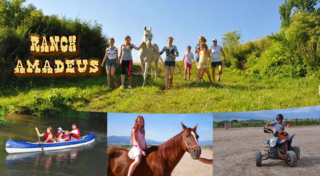 Fotka zľavy: Letný westernový tábor pre deti na Ranchi Amadeus iba za 169 € - 8 dní s jazdou na koni, štvorkolke, splavom na kanoe či lukostreľbou. Doprajte svojim ratolestiam nezabudnuteľné prázdniny!