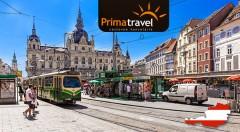 Zľava 29%: Jednodňový autobusový zájazd do čarovného Grazu - druhého najväčšieho mesta Rakúska, len za 26,90 €. Čaká na vás prehliadka mesta so sprievodcom, ktoré si určite zamilujete.