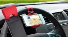 Zľava 50%: Praktický držiak mobilu na volant iba za 6,90 € - nastaviteľná šírka, jednoduchá a rýchla manipulácia pre váš telefón na dosah ruky!