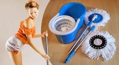 Zľava 50%: Magic Mop 360º - pomocník na upratovanie, ktorý šetrí vaše sily svojou kvalitnou prácou. S 2 textilnými hlavicami s mikrovláknom ho dostanete len za 15,98 €!