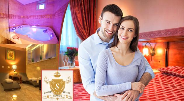 Fotka zľavy: Tri romantické májové alebo júnové dni v Grand Boutique Hoteli Sergijo**** v slnečných Piešťanoch len za 99,90 € pre dvoch s raňajkami, večerou pri sviečkach, masážou či neobmedzeným wellness!