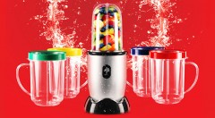 Zľava 48%: Ideálny spoločník na leto - dizajnový smoothie mixér s ovládaním na jedno tlačidlo iba za 49,90 € vrátane poštovného a balného. Vyrobte si obľúbené džúsy, kokteily či omáčky jednoducho a rýchlo!