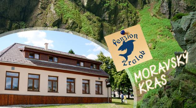 Fotka zľavy: Nádherné jaskyne, malebná príroda, westernové mestečko, chutné raňajky a večera i fľaša vínka - Penzión Žralok už od 62 € pre dvoch. Vaše nezabudnuteľné letné zážitky v Moravskom krase!