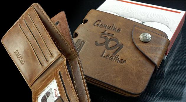 Fotka zľavy: Pánsku peňaženku z pravej hovädzej kože len za 8,99 € určite ocenia všetci páni. Hodiť sa vám bude elegantný a nadčasový dizajn aj priečinok pre bezkontaktné karty, ktorý vám uľahčí platenie.