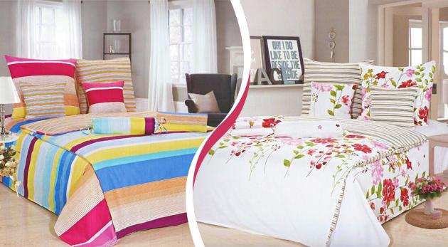 Fotka zľavy: Oživte vašu spálňu so štýlovými posteľnými obliečkami len za 9,90 €. Vyberte si tie vaše z 8 rôznych vzorov a zahaľte svoju posteľ do nového šatu!