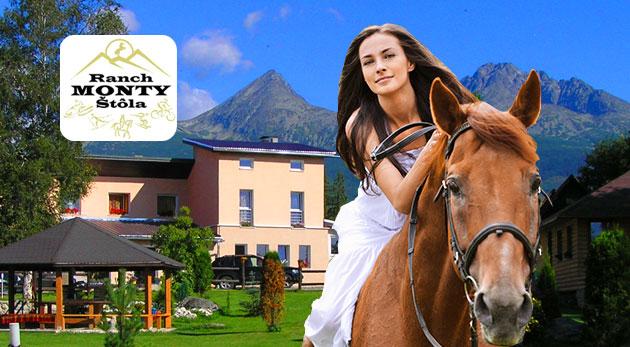 Fotka zľavy: Pohodové 3 dni v obklopení prírody a zvierat v rodinnom Penzióne Monty Ranch vo Vysokých Tatrách už od 29 € s raňajkami alebo polpenziou, jazdou na koni či zapožičaním bicykla.