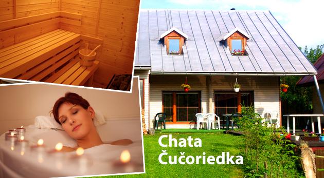 Fotka zľavy: Relaxačný pobyt na 2 dni pre 1 alebo až 10 osôb v príjemnej chate Čučoriedka v Nízkych Tatrách už od 9 €. K dispozícii sauna aj hydromasážna vaňa. Pri pobyte skupiny 10 osôb je celý objekt súkromne!