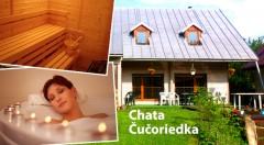 Zľava 50%: Relaxačný pobyt na 2 dni pre 1 alebo až 10 osôb v príjemnej chate Čučoriedka v Nízkych Tatrách už od 9 €. K dispozícii sauna aj hydromasážna vaňa. Pri pobyte skupiny 10 osôb je celý objekt súkromne!