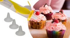Zľava 58%: Ozdobte svoje torty a zákusky ako profesionálna cukrárka! Len 7,99 € za zdobiace pero, ktoré sa hodí na zdobenie a plnenie mafinov, tort, koláčikov, zákuskov, perníčkov či sušienok.