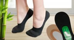 Zľava 50%: O nohy v suchu, pohodlí a bez baktérií sa vám postarajú prvotriedne dámske bambusové ponožky Aura Via vhodné do balerínok. 5 párov v rôznych farbách a veľkostiach len za 4,49 €!
