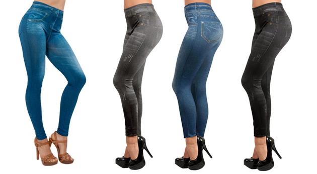 Fotka zľavy: Štýlové a pohodlné legíny s džínsovým vzhľadom len za 14,99 € - 3 kusy v balení. Prispôsobia sa každej postave a krásne zvýraznia vaše krivky. Módny hit, ktorý musíte mať aj vy!