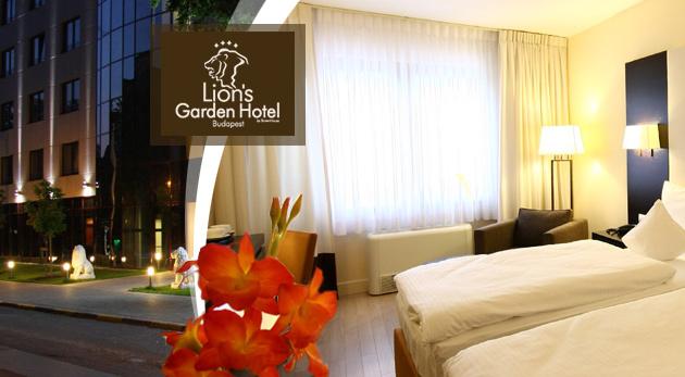 Fotka zľavy: Luxusný Lion´s Garden Hotel**** v centre Budapešti na 3 dni už od 139 € pre dvoch s raňajkami a voľným vstupom do wellness. Na výber i varianty s vyhliadkovou plavbou loďou alebo jazdou autobusom!