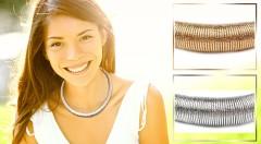 Zľava 33%: Kvalitný a dizajnový špirálový náhrdelník len za 5,30 € vás toto leto bude dokonale krášliť. Kovové prevedenie v zlatej alebo striebornej farbe s čistými líniami.