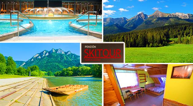Fotka zľavy: Objavte krásu letných Vysokých Tatier v rámci 2, 3 alebo 4 dní v Penzióne Skitour**+ už od 14,50 €. Na výber i variant s celodenným vstupom do Aquacity Poprad a splavom Dunajca na pltiach s obedom!