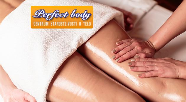 Fotka zľavy: Ručná anticelulitídna masáž len za 12 € v trvaní 60 minút v štúdiu Perfect Body. Relaxačný a účinný boj proti nežiadúcej pomarančovej koži!