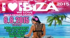 Zľava 32%: Vstupenka na tanečný festival I LOVE IBIZA 2015 len za 10,90€. Privítajte leto vo veľkom štýle a zažite Ibizu na Zlatých Pieskoch! Známi DJi, bohatý program, super atmosféra a zábava až do rána!