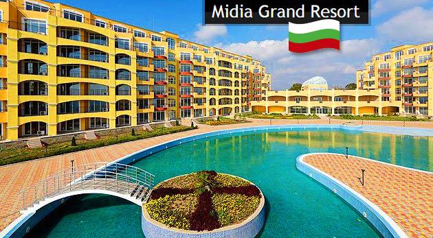 Fotka zľavy: Úžasných 8 dní plných slnka, piesku a kokteilov zažijete pri Čiernom mori v plne vybavenom apartmáne Midia Grand Resort v Bulharsku len za 259 €. Pobyt v top sezóne!
