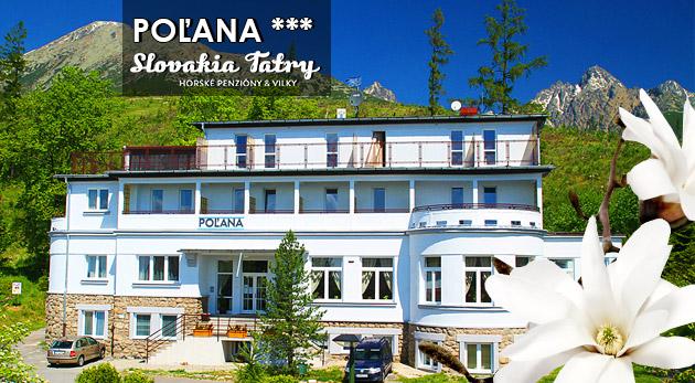 Zľava 50%: Vychutnajte si malebné Vysoké Tatry naozaj dosýta - komfortný Penzión Poľana*** so skvelou polohou priamo na úpätí Slavkovského štítu už od 49 € na 3, 4 alebo 5 dní s polpenziou a ďalšími bonusmi.
