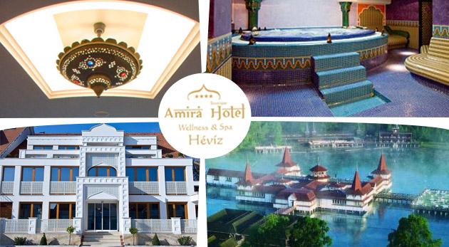 Fotka zľavy: Zažite orient v blízkom Maďarsku - jedinečný 4-dňový relax v luxusnom Hoteli AMIRA**** pri termálnom jazere Hévíz len za 222 € pre 2 osoby vrátane polpenzie a voľného vstupu do exotického wellness!