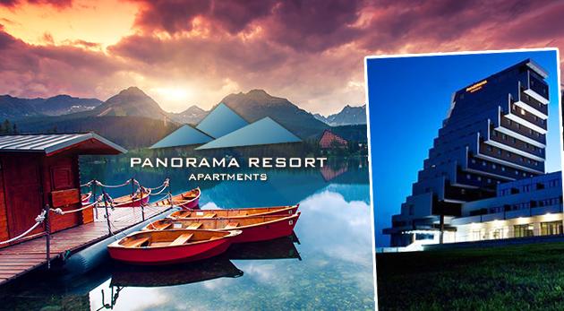 Fotka zľavy: Doprajte si tatranský luxus s nezabudnuteľným výhľadom na hory v hotelovo-apartmánovom rezorte Panorama na Štrbskom Plese už od 129 € na 3 alebo 5 dní pre 2 až 4 osoby.