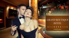 Zľava 40%: Luxusné slnečné dni plné romantiky v elegantnom Grand Boutique Hoteli Sergijo**** v Piešťanoch iba za 115 € pre 2 osoby s bohatou polpenziou, masážou či neobmedzeným wellness a ďalšími bonusmi!