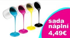 Zľava 54%: Nečakajte, až tlačiareň ohlási prázdnu náplň, kúpte jej ju už v predstihu! Sadu čiernobielej a farebnej náplne značky Hansol môžete mať len za 4,49 €.