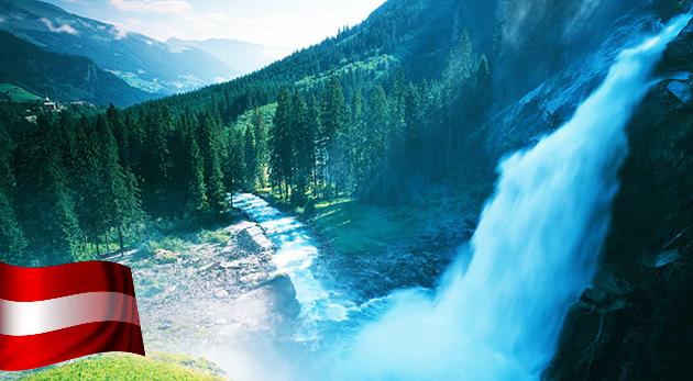 Fotka zľavy: Objavte krásy rakúskych Álp - jednodňová túra jednou z najdlhších, najužších a najhlbších tiesňav Lichtensteinklamm a ohromujúce Krimmelské vodopády len za 55,90 €. V cene doprava i sprievodca!