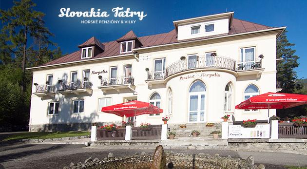 Fotka zľavy: Príjemné ubytovanie v Penzióne Karpatia na 4 dni za 36 € v blízkosti Studenovodských vodopádov a Tatranskej Lomnice. Vychutnajte si utešené prostredie, rodinnú atmosféru a čaro Vysokých Tatier!